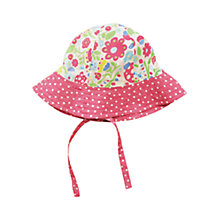 Buy Frugi Baby Reversible Ditsy Hat, Multi Online at johnlewis.com