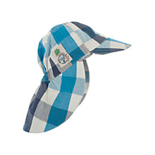 Buy Frugi Check Legionnaires Hat, Blue Online at johnlewis.com