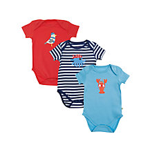 Buy Frugi Seaside Bodysuits, Multi Online at johnlewis.com