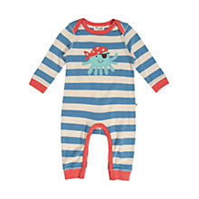 Buy Frugi Octopus Romper, Blue/Cream Online at johnlewis.com