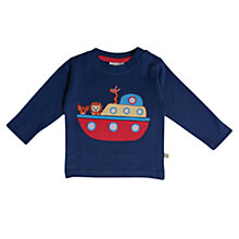 Buy Frugi Long Sleeve Boat T-Shirt, Navy Online at johnlewis.com