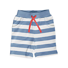Buy Frugi Baby Octopus Pocket Jersey Shorts, Blue Online at johnlewis.com