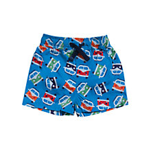 Buy Frugi Baby Campervan Print Beach Shorts, Blue Online at johnlewis.com