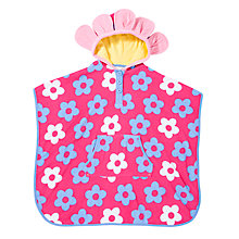 Buy John Lewis Flower Print Swim Poncho, Pink Online at johnlewis.com