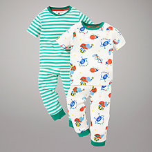 Buy John Lewis Circus Bug & Stripe Pyjamas, Pack of 2, Multi Online at johnlewis.com