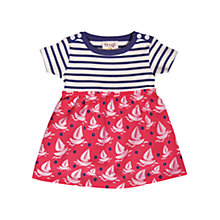 Buy Frugi Baby Boat & Stripe Print Body Dress, Red/Blue Online at johnlewis.com