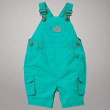 Buy John Lewis Tortoise Motif Dungarees, Green Online at johnlewis.com
