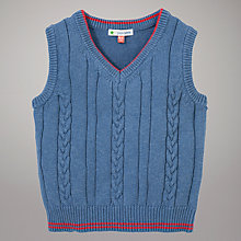 Buy John Lewis Cable Knit Tank Top, Blue Online at johnlewis.com