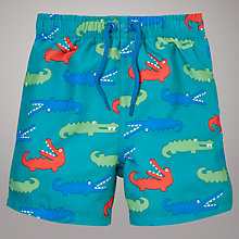 Buy John Lewis Crocodile Print Board Shorts, Blue Online at johnlewis.com