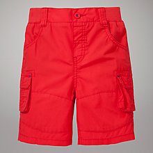 Buy John Lewis Poplin Shorts, Red Online at johnlewis.com