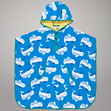 Buy John Lewis Whale Print Swim Poncho, Blue Online at johnlewis.com
