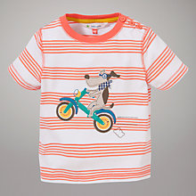 Buy John Lewis Dog on Bike Motif T-Shirt, Coral Online at johnlewis.com