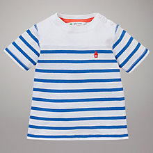 Buy John Lewis Breton Stripe T-Shirt, White/Blue Online at johnlewis.com