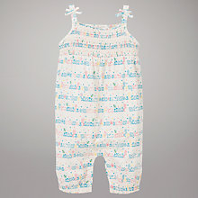 Buy John Lewis Bunny Print Jersey Playsuit, Multi Online at johnlewis.com