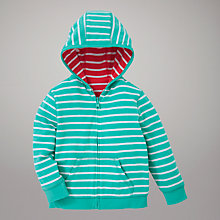 Buy John Lewis Reversible Stripe Zip Through Hoodie, Green/Red Online at johnlewis.com