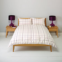 Buy John Lewis New Check Duvet Cover and Pillowcase Set Online at johnlewis.com