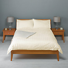 Buy John Lewis 600 Thead Count Satin Stripe Duvet Cover and Pillowcase Set Online at johnlewis.com