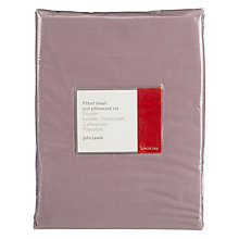 Buy John Lewis Easycare Polycotton Fitted Sheet and Pillowcase Multipack Online at johnlewis.com