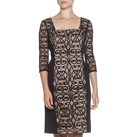 Buy Adrianna Papell Panel Dress, Black Online at johnlewis.com