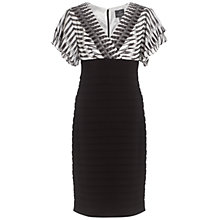Buy Adrianna Papell Lace Stretch Dress, Black/White Online at johnlewis.com