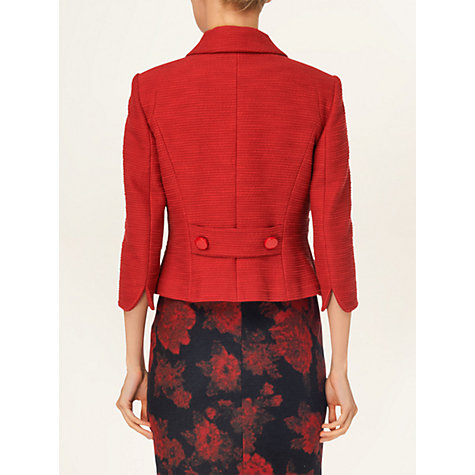 Buy Phase Eight Daphne Textured Coat, Red Online at johnlewis.com