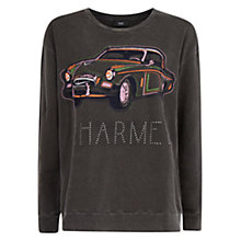 Buy Mango Embroidered Sweatshirt, Light Pastel Grey Online at johnlewis.com