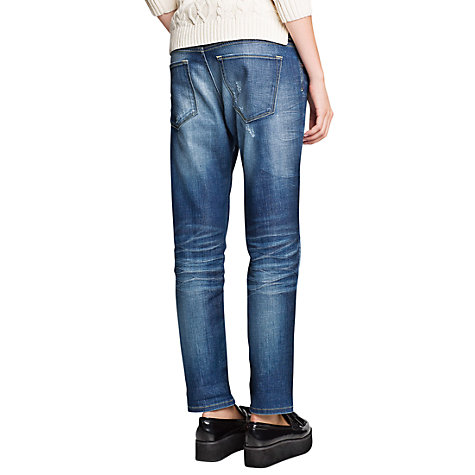 Buy Mango Dark Wash Boyfriend Jeans, Dark Blue Online at johnlewis.com
