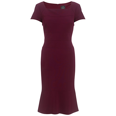 Buy Adrianna Papell Seam Bodice Dress, Burgundy Online at johnlewis.com