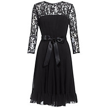 Buy Adrianna Papell Chiffon Flare Dress, Black Online at johnlewis.com