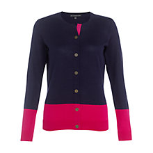 Buy Adrianna Papell Colour Block Cardigan, Currant Online at johnlewis.com