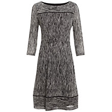 Buy Adrianna Papell Woven Dress, Ivory/Black Online at johnlewis.com