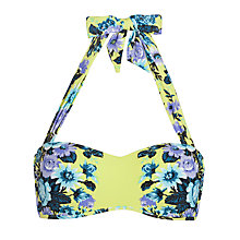 Buy Seafolly Bella Rose Bandeau Bikini Top, Chartreuse Online at johnlewis.com