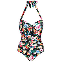 Buy Seafolly Summer Garden Maillot, Black Floral Online at johnlewis.com