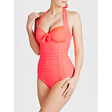 Buy Seafolly Goddess Maillot Swimsuit, Pink Online at johnlewis.com