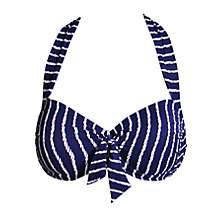 Buy Seafolly Coastline Halter Top, Navy Online at johnlewis.com