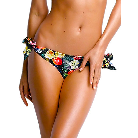 Buy Seafolly Summer Garden Side Tie Bikini Briefs, Black Floral Online at johnlewis.com
