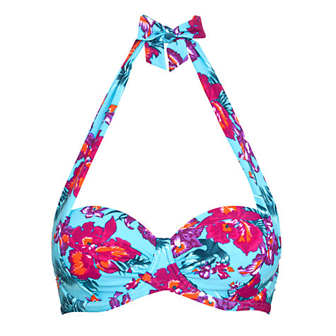 Buy John Lewis Orchid Underwired Bikini Top, Blue Floral Online at johnlewis.com