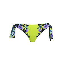 Buy Seafolly Bella Rose Hipster Bikini Briefs, Chartreuse Online at johnlewis.com