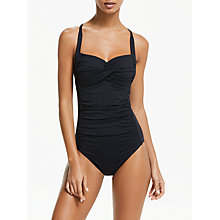 Buy Seafolly Goddess Swimsuit, Black Online at johnlewis.com