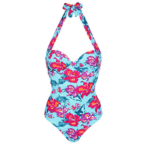 Buy John Lewis Orchid Underwired Control Swimsuit, Blue Floral Online at johnlewis.com
