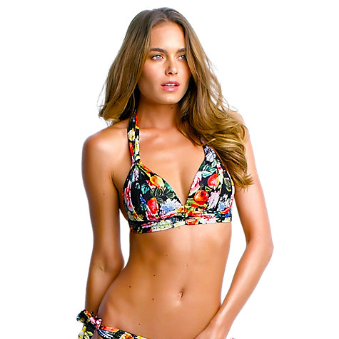 Buy Seafolly Summer Garden Moulded Bikini Top, Black Floral Online at johnlewis.com