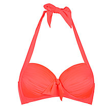 Buy Seafolly Goddess Halter Bikini Top, Red Hot Online at johnlewis.com