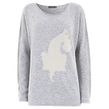 Buy Mint Velvet Puppy Print Knit Online at johnlewis.com