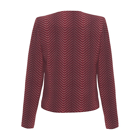 Buy allegra by Allegra Hicks Ariana Jacket, Herringbone Rust Online at johnlewis.com