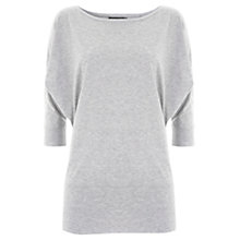 Buy Hygge by Mint Velvet Batwing T-Shirt, Grey Online at johnlewis.com