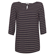 Buy allegra by Allegra Hicks Sadie Top, Zigzag Geo Navy Online at johnlewis.com