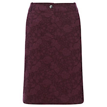 Buy Jigsaw Floral Jacquard Skirt, Burgundy Online at johnlewis.com