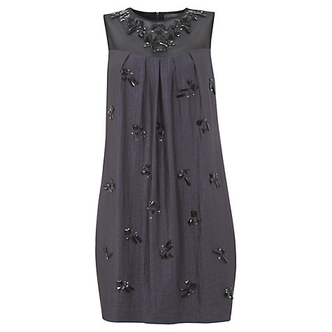 Buy Mint Velvet Embellished Cocoon Dress, Blue Online at johnlewis.com