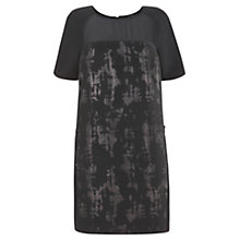 Buy Mint Velvet Jacquard Dress, Black Online at johnlewis.com
