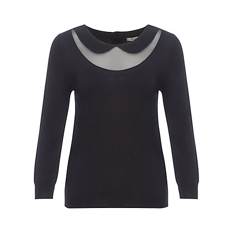 Buy Jigsaw Chiffon Detail Collar Jumper Online at johnlewis.com